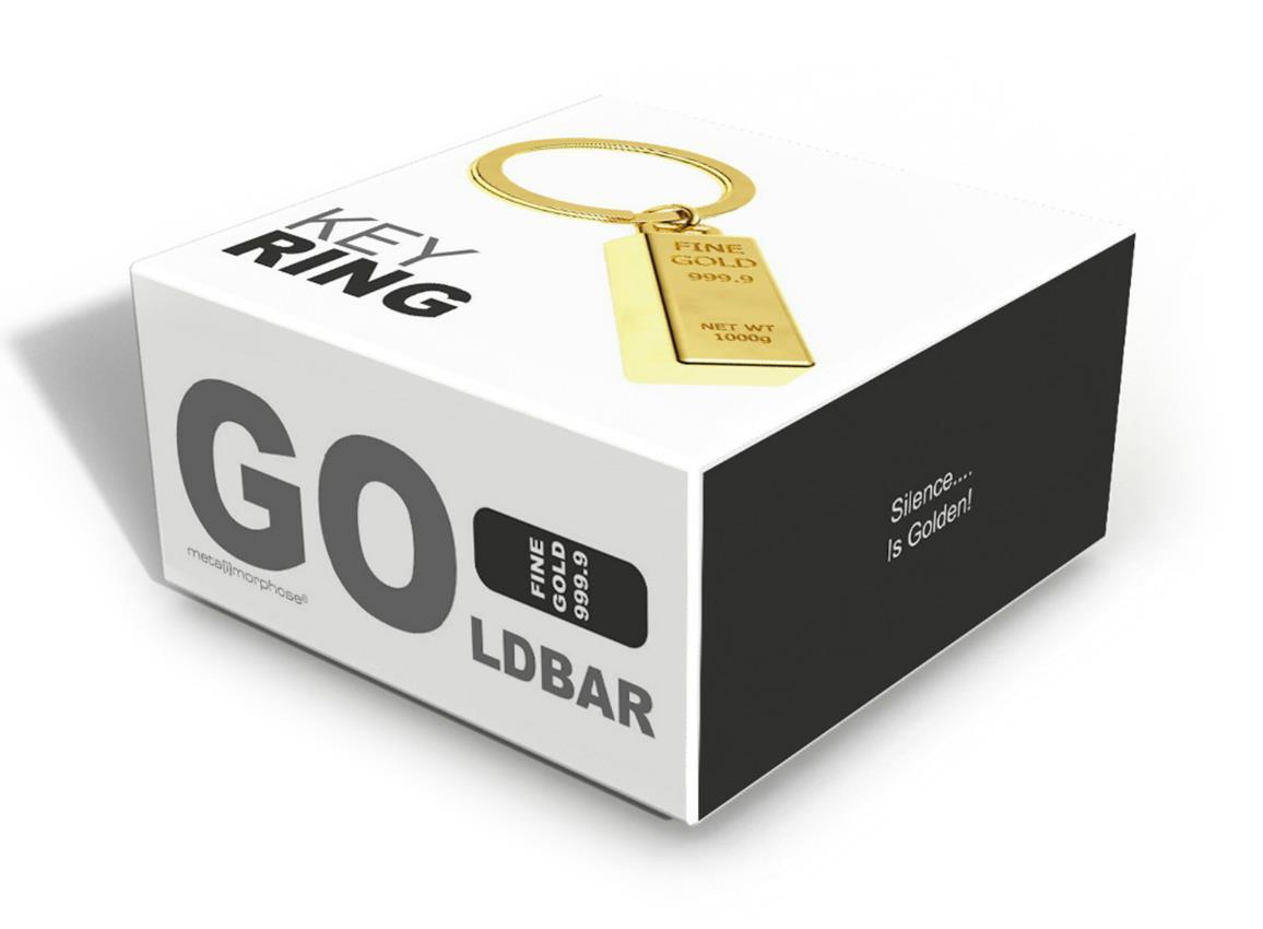 keyring gold bar gold metalmorphose mtm044 2