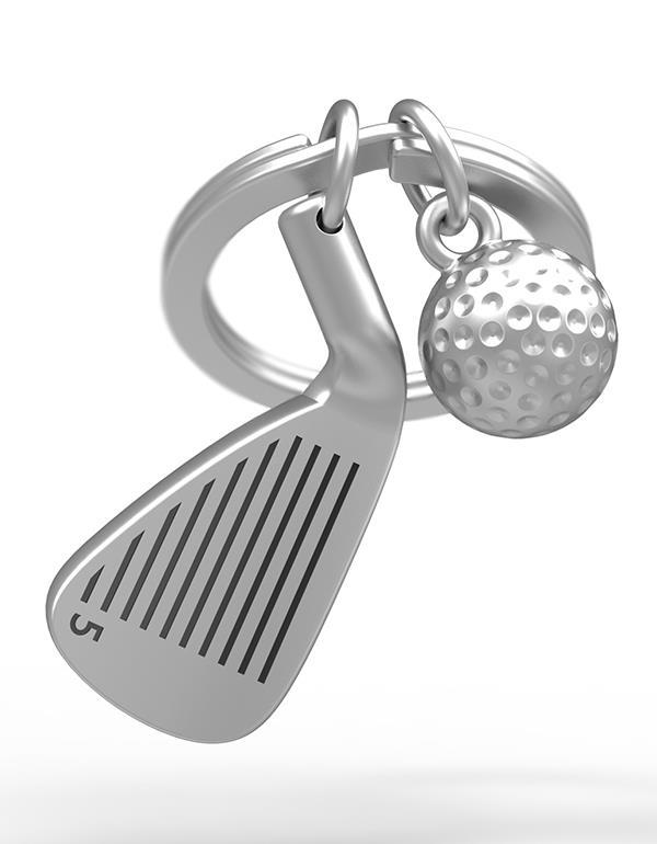 keyring golf club silver metalmorphose mtm929 3