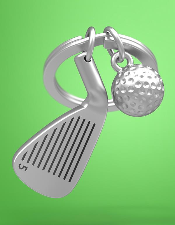 keyring golf club silver metalmorphose mtm929 5