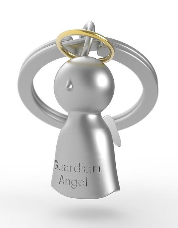keyring guardian angel silver metalmorphose mtm921 3