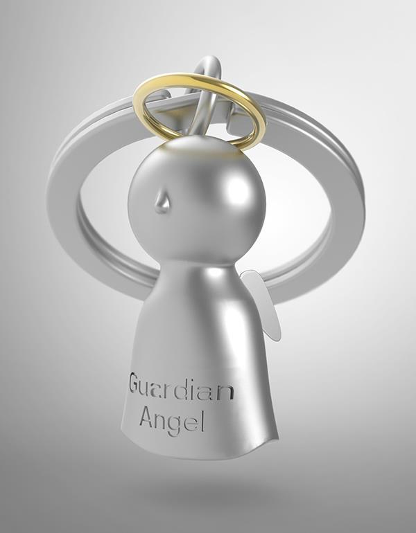 keyring guardian angel silver metalmorphose mtm921 4