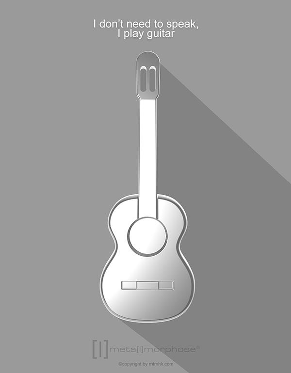keyring guitar silver metalmorphose mtm050 5