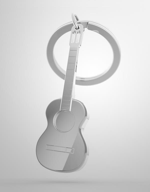 keyring guitar silver metalmorphose mtm050 6