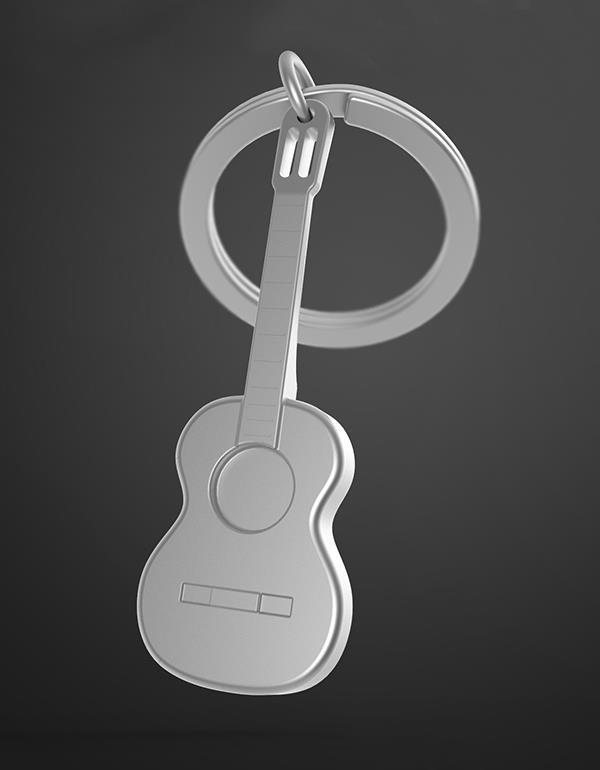keyring guitar silver metalmorphose mtm050 7