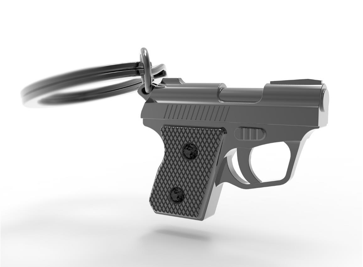 keyring gun black metalmorphose mtm973 1