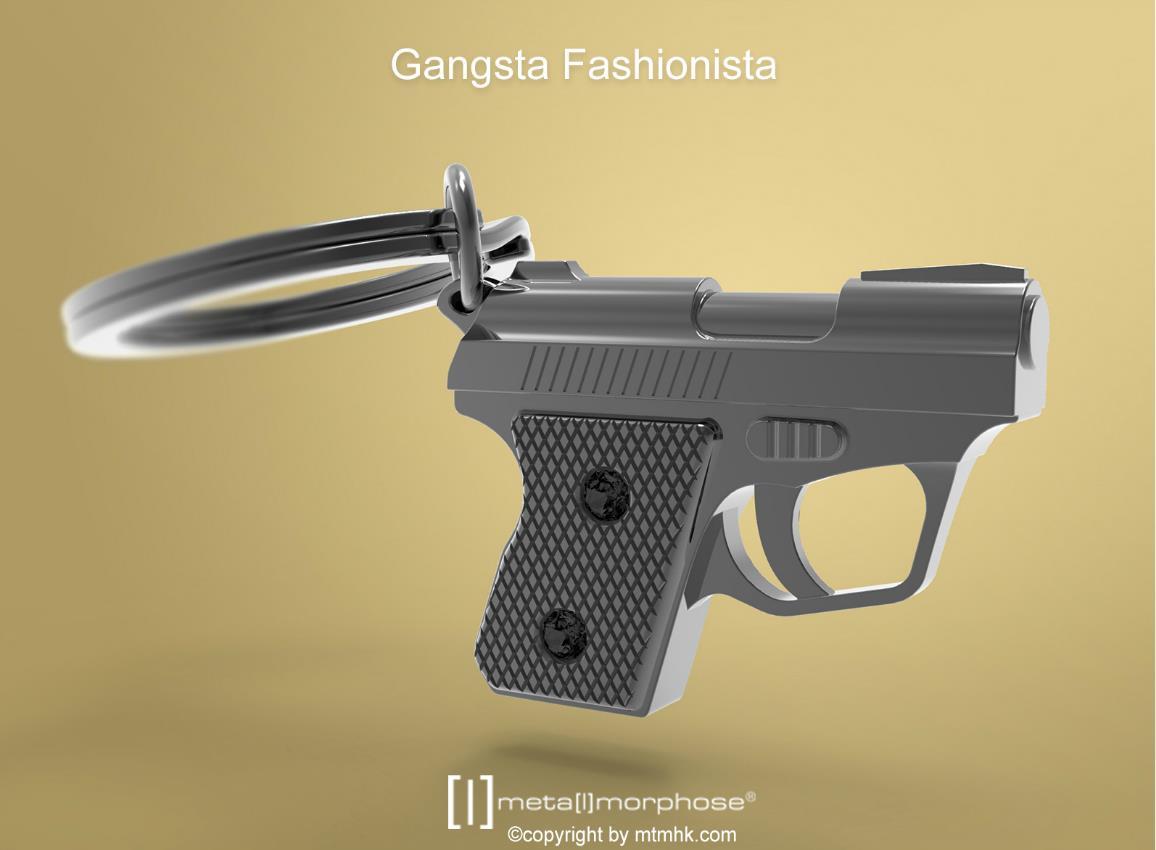 keyring gun black metalmorphose mtm973 2