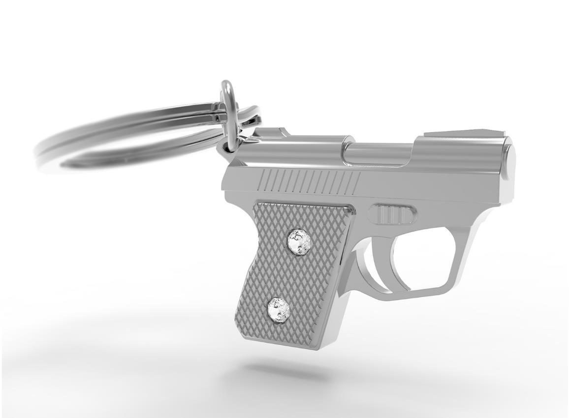 keyring gun silver metalmorphose mtm939 4