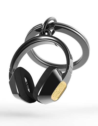 keyring headphone black metalmorphose mtm075