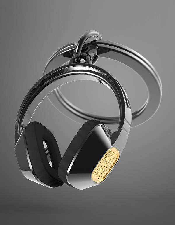 keyring headphone black metalmorphose mtm075 3
