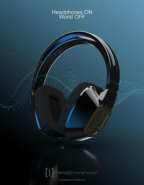 keyring headphone black metalmorphose mtm075 4