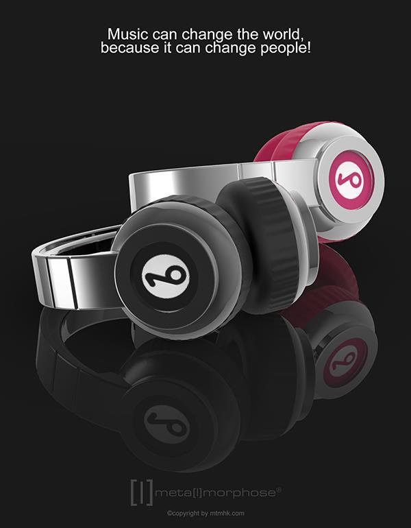 keyring headphone black pink metalmorphose mtm074 10
