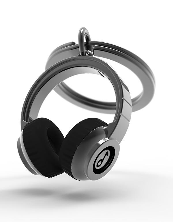 keyring headphone black pink metalmorphose mtm074 7