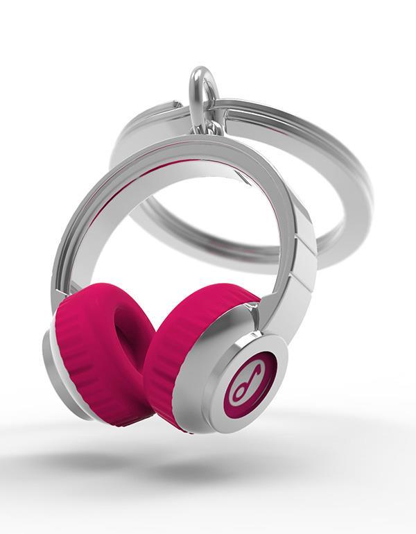 keyring headphone black pink metalmorphose mtm074 8