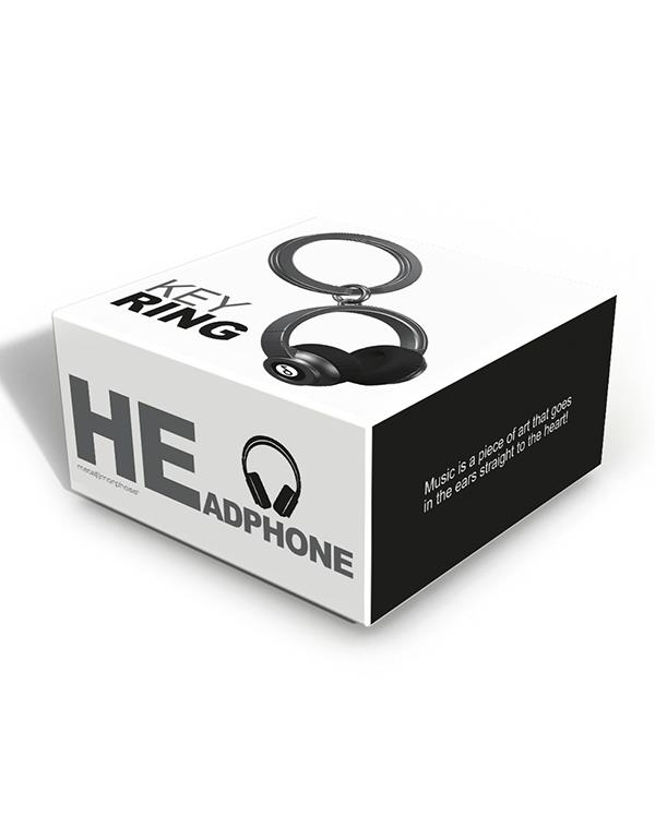 keyring headphone black pink metalmorphose mtm074 9