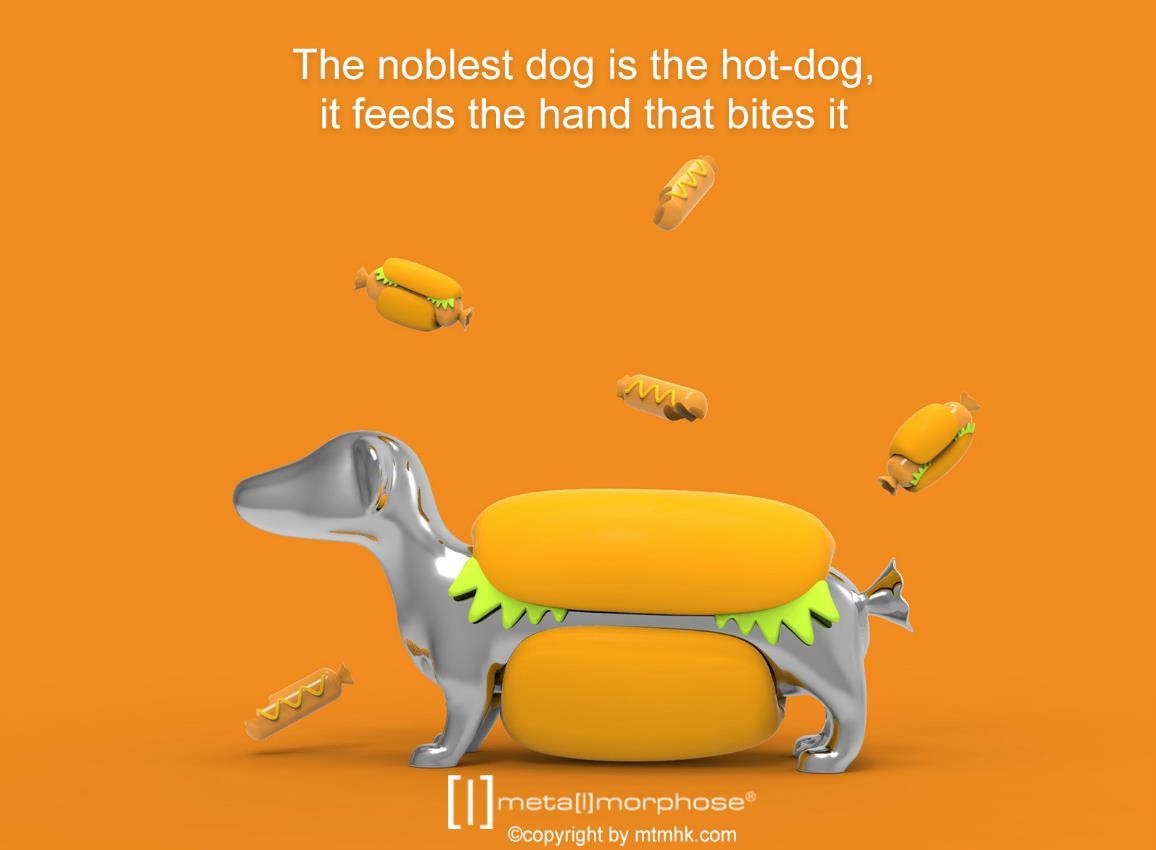 keyring hotdog silver metalmorphose mtm907 4