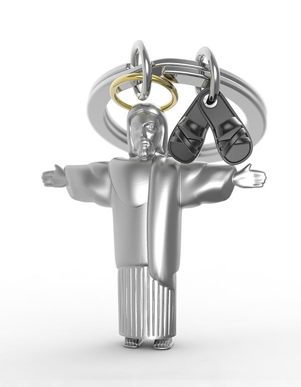 keyring jesus silver metalmorphose mtm211 3