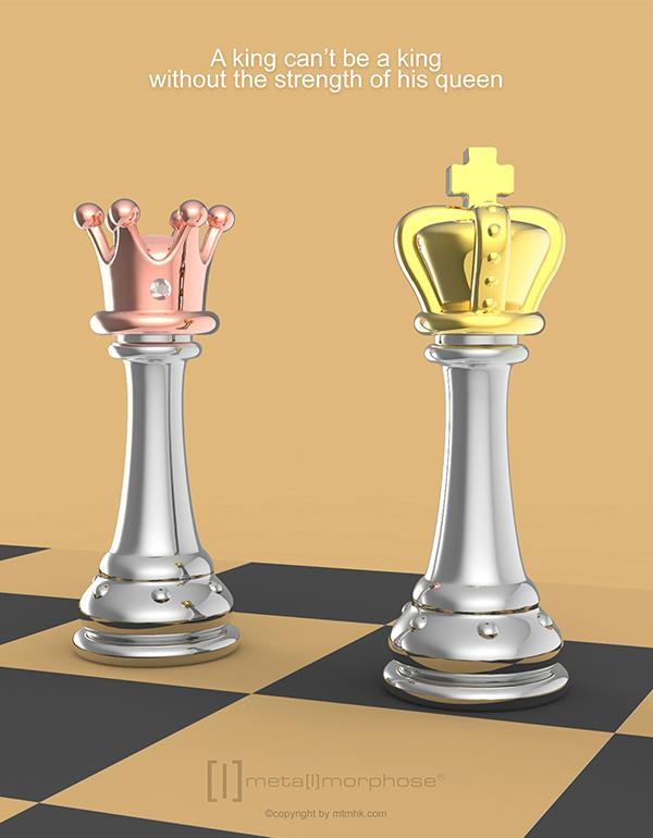 keyring king chess silver metalmorphose mtm240 4