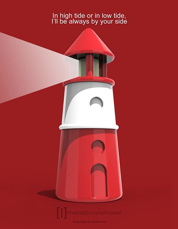 keyring lighthouse red metalmorphose mtm070 3