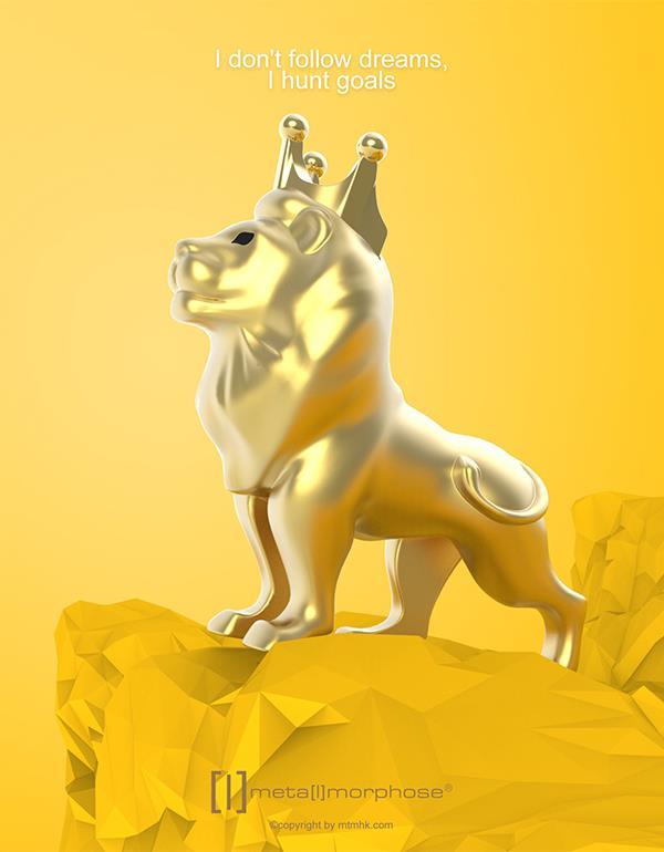 keyring lion gold metalmorphose mtm275 4