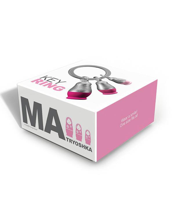 keyring matryoshka pink metalmorphose mtm087 2