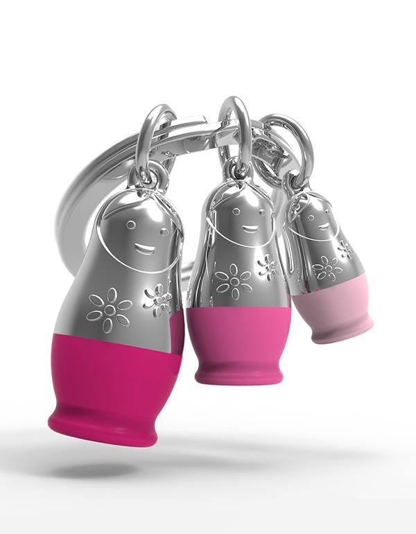 keyring matryoshka pink metalmorphose mtm087 3