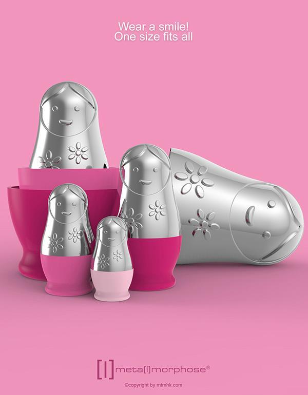 keyring matryoshka pink metalmorphose mtm087 4