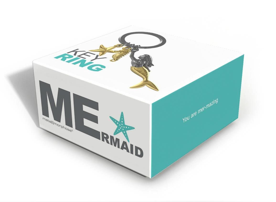 keyring mermaid gold metalmorphose mtm121 4