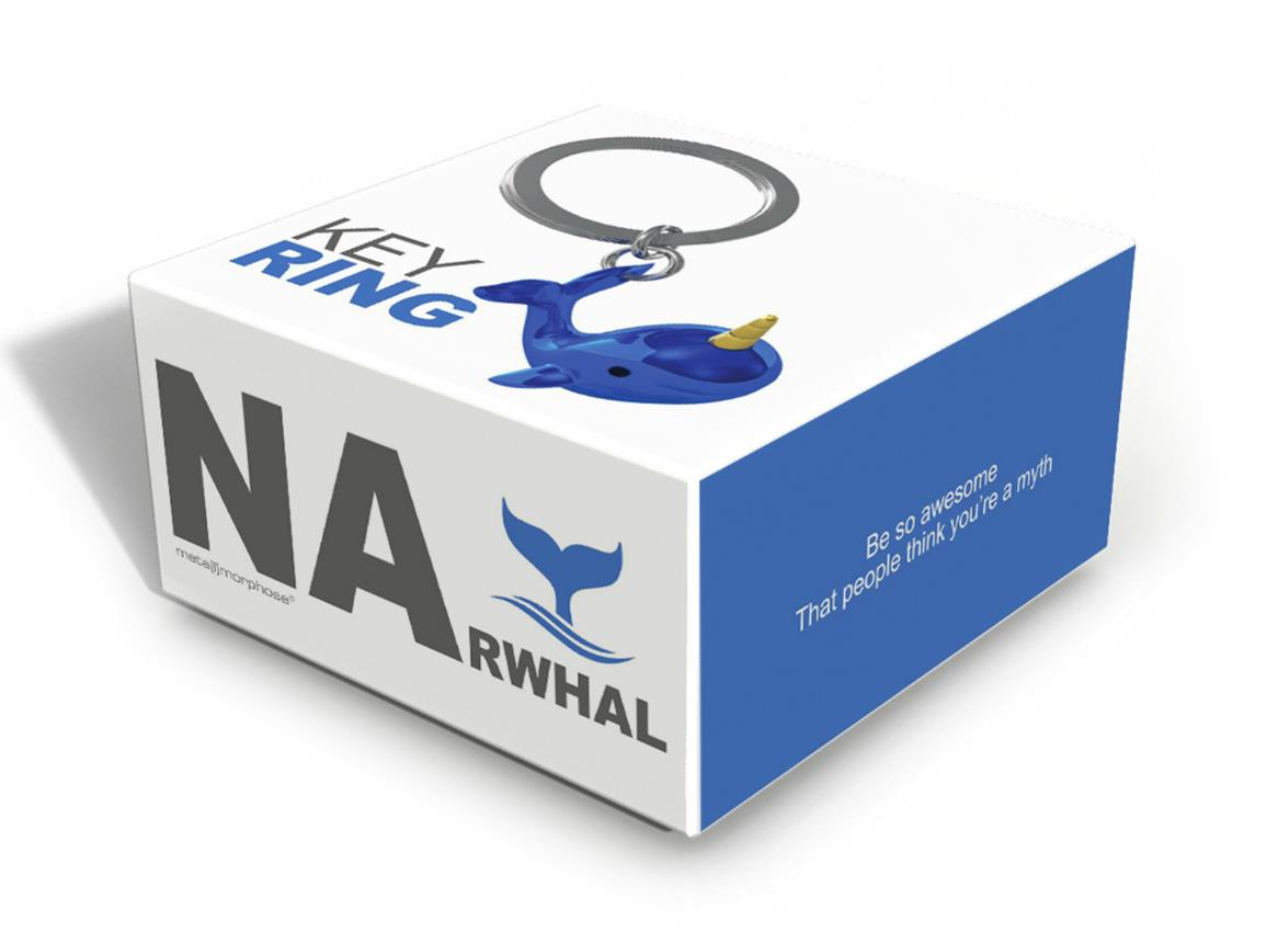 keyring narwhal blue silver metalmorphose mtm122 4