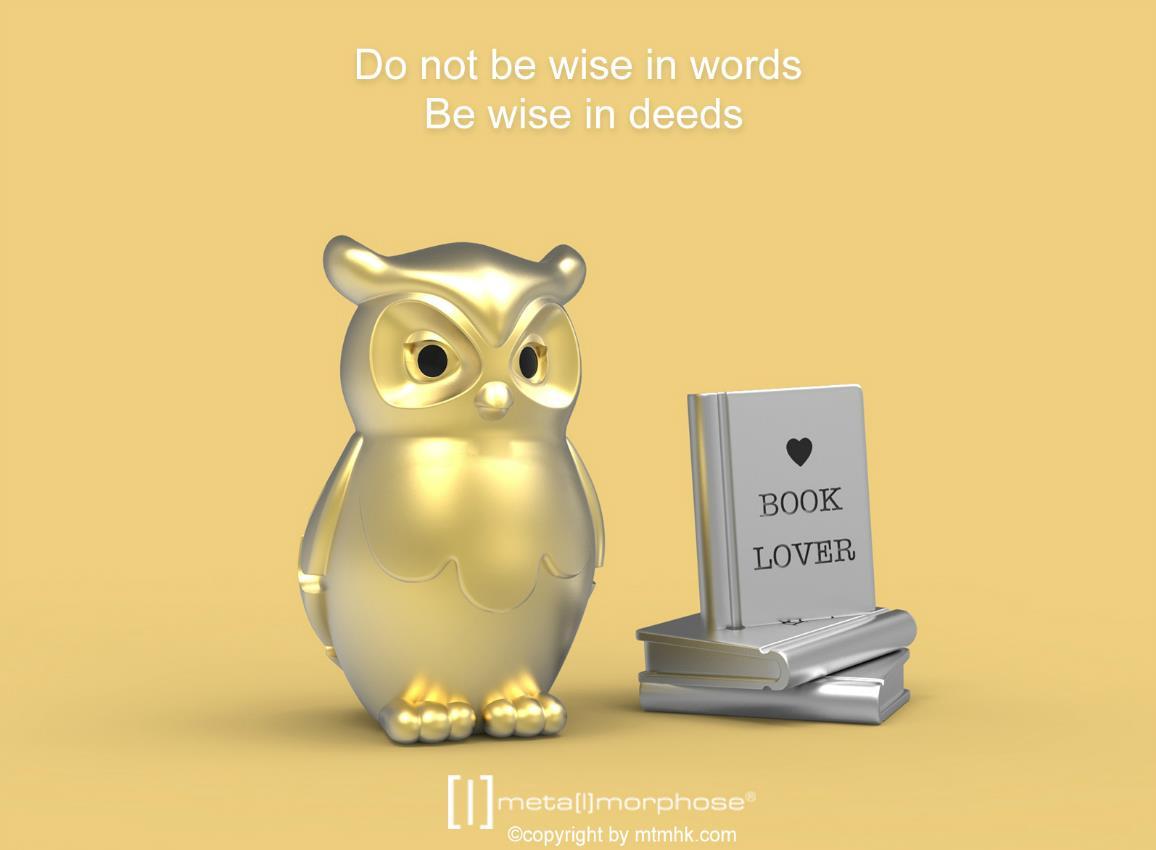 keyring owl book gold metalmorphose mtm279 3
