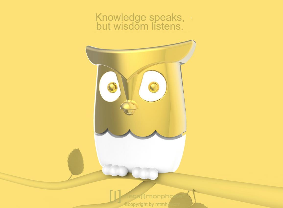 keyring owl gold pink blue metalmorphose mtm064 11