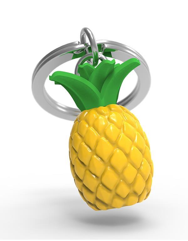 keyring pineapple yellow metalmorphose mtm089 3