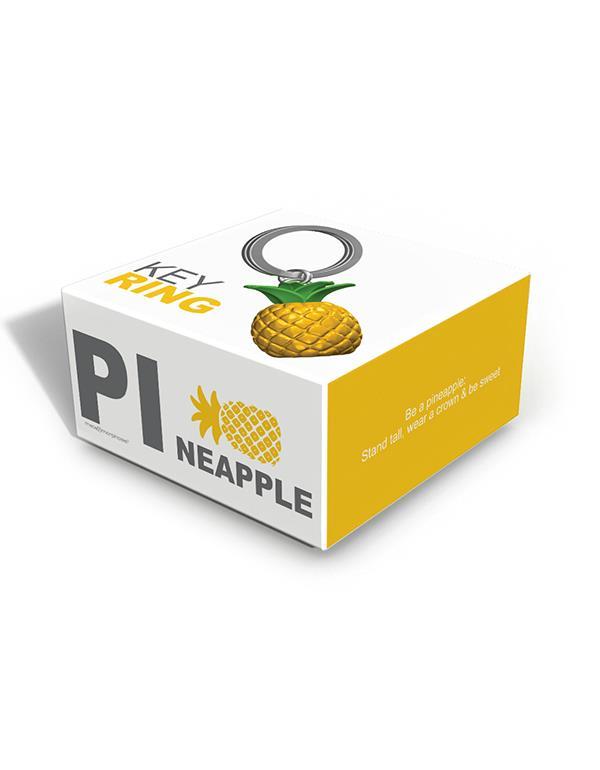 keyring pineapple yellow metalmorphose mtm089 5
