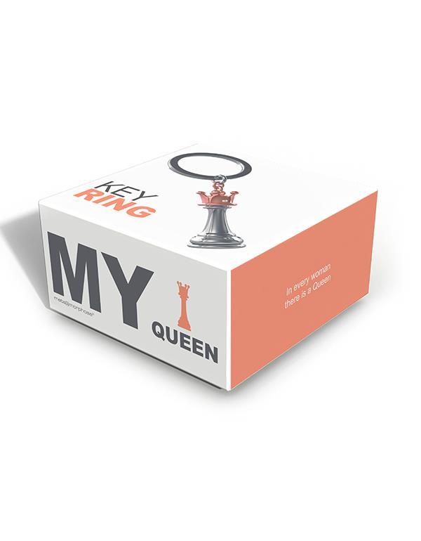 keyring queen chess silver metalmorphose mtm241 2
