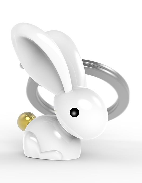 keyring rabbit white metalmorphose mtm068 8