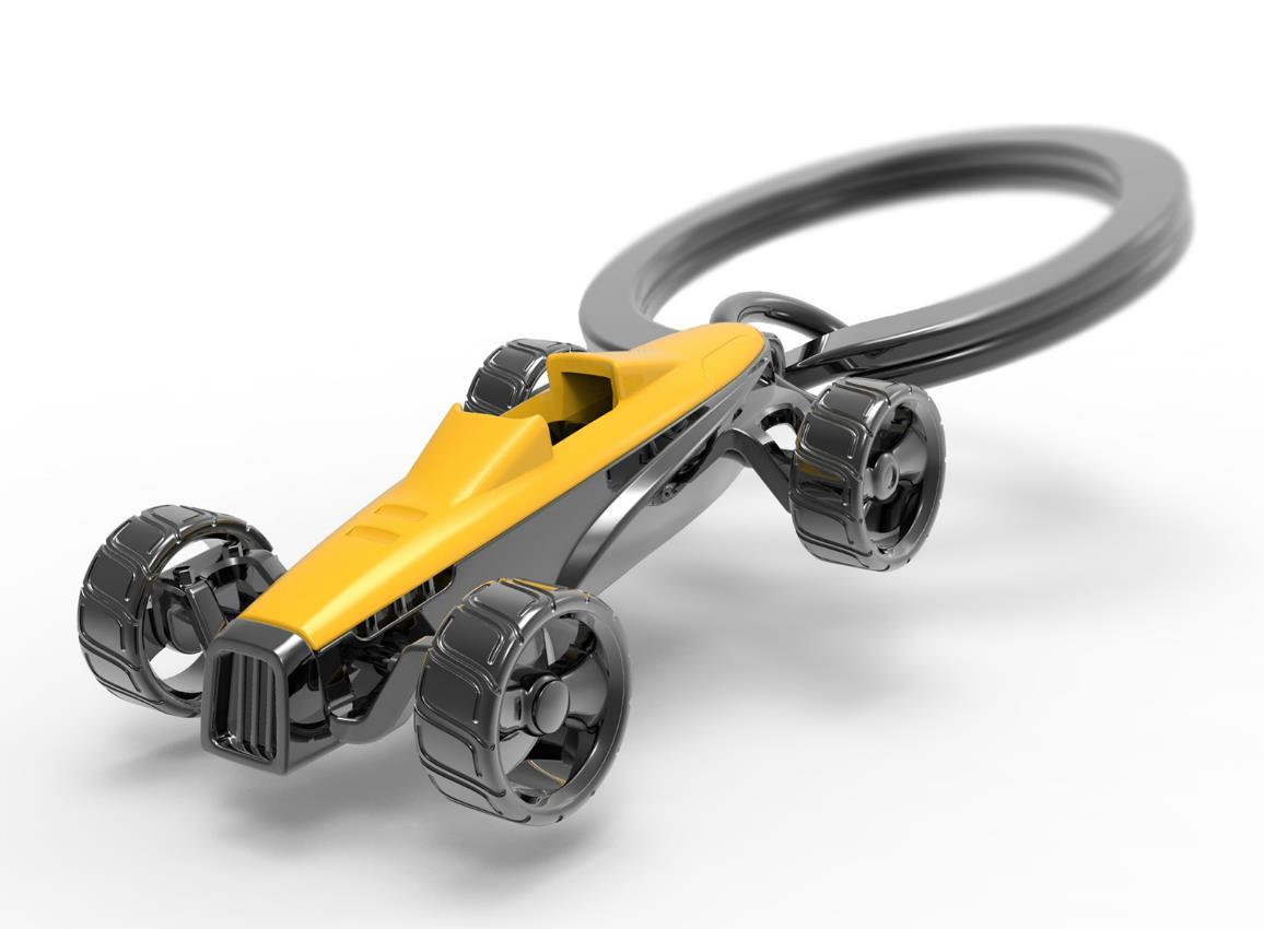 keyring racing car silver yellow red metalmorphose mtm980 7