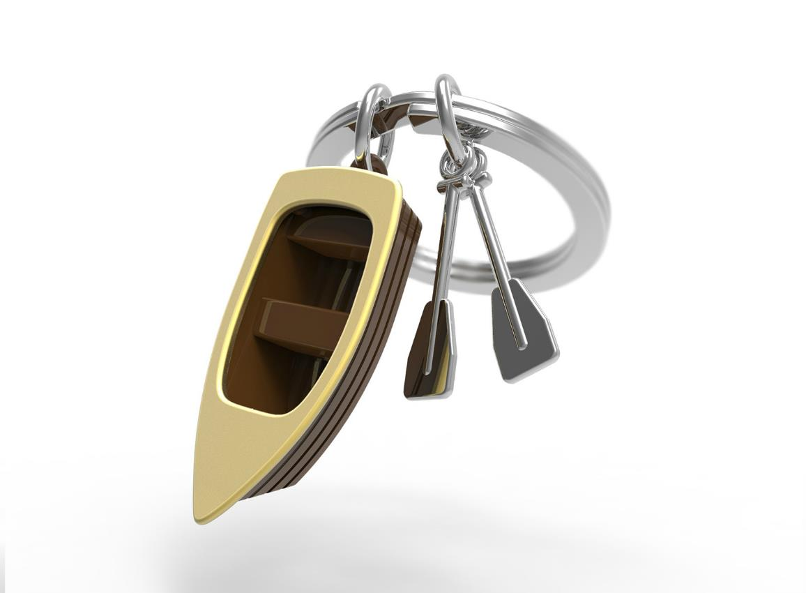 keyring rowboat red metalmorphose mtm062 5