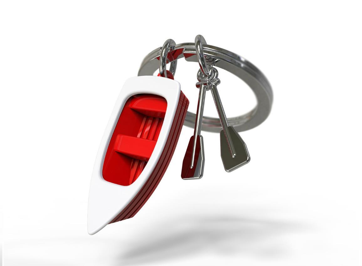 keyring rowboat red metalmorphose mtm062 7