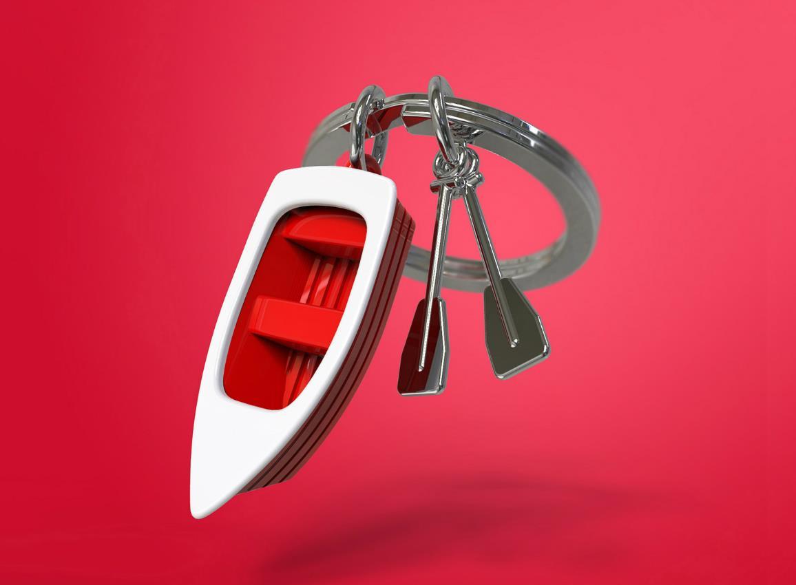 keyring rowboat red metalmorphose mtm062 9
