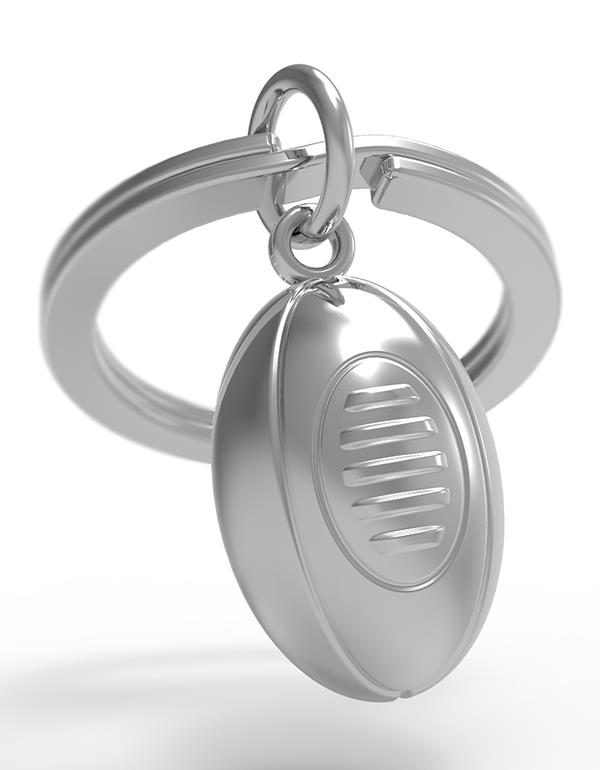 keyring rugby silver metalmorphose mtm046 3