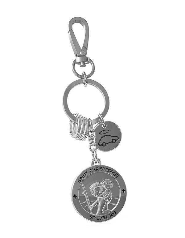 keyring saint christopher silver metalmorphose mtm106 2