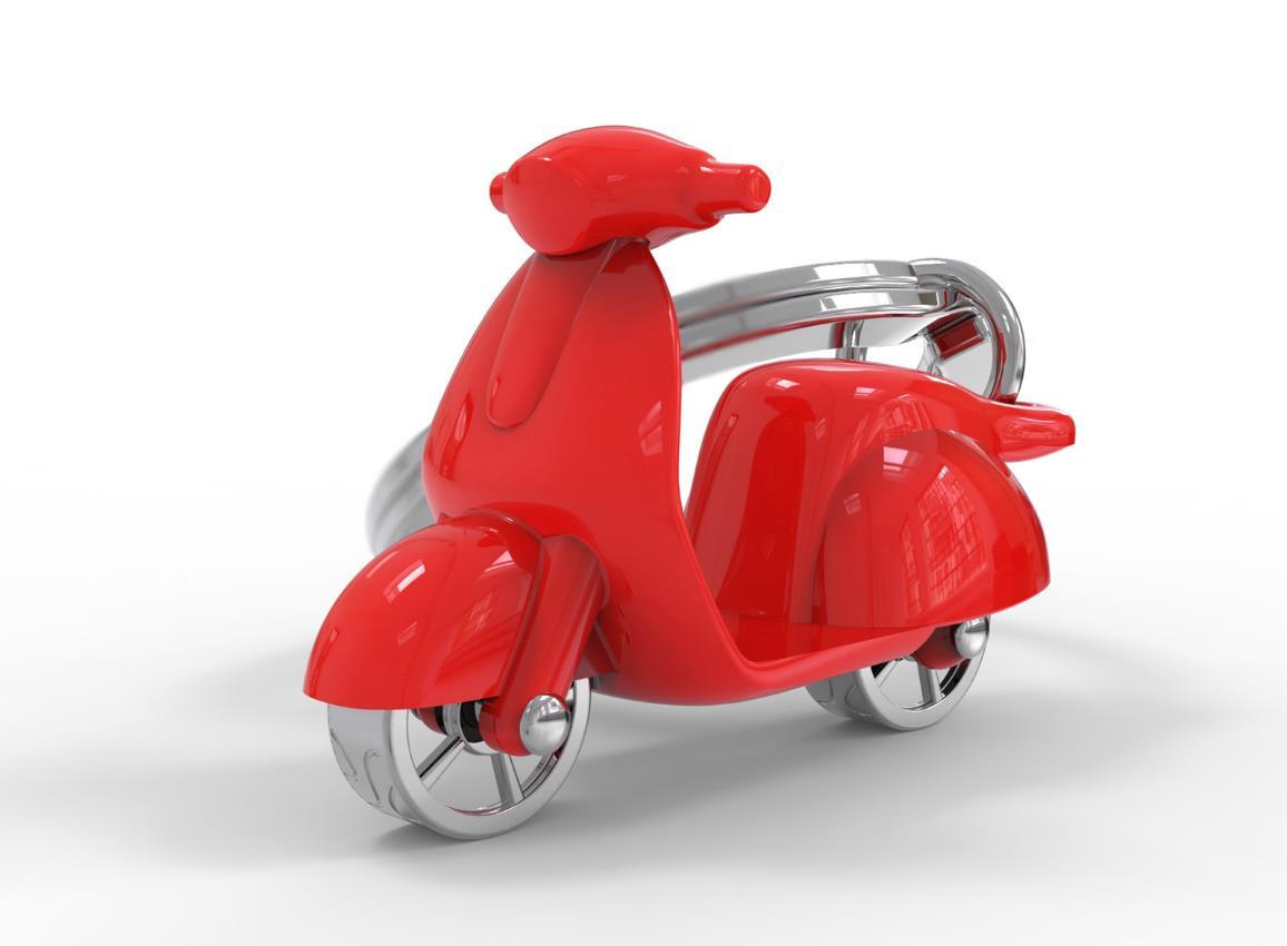 keyring scooter red white green mint pink cream silver black metalmorphose mtm999 12