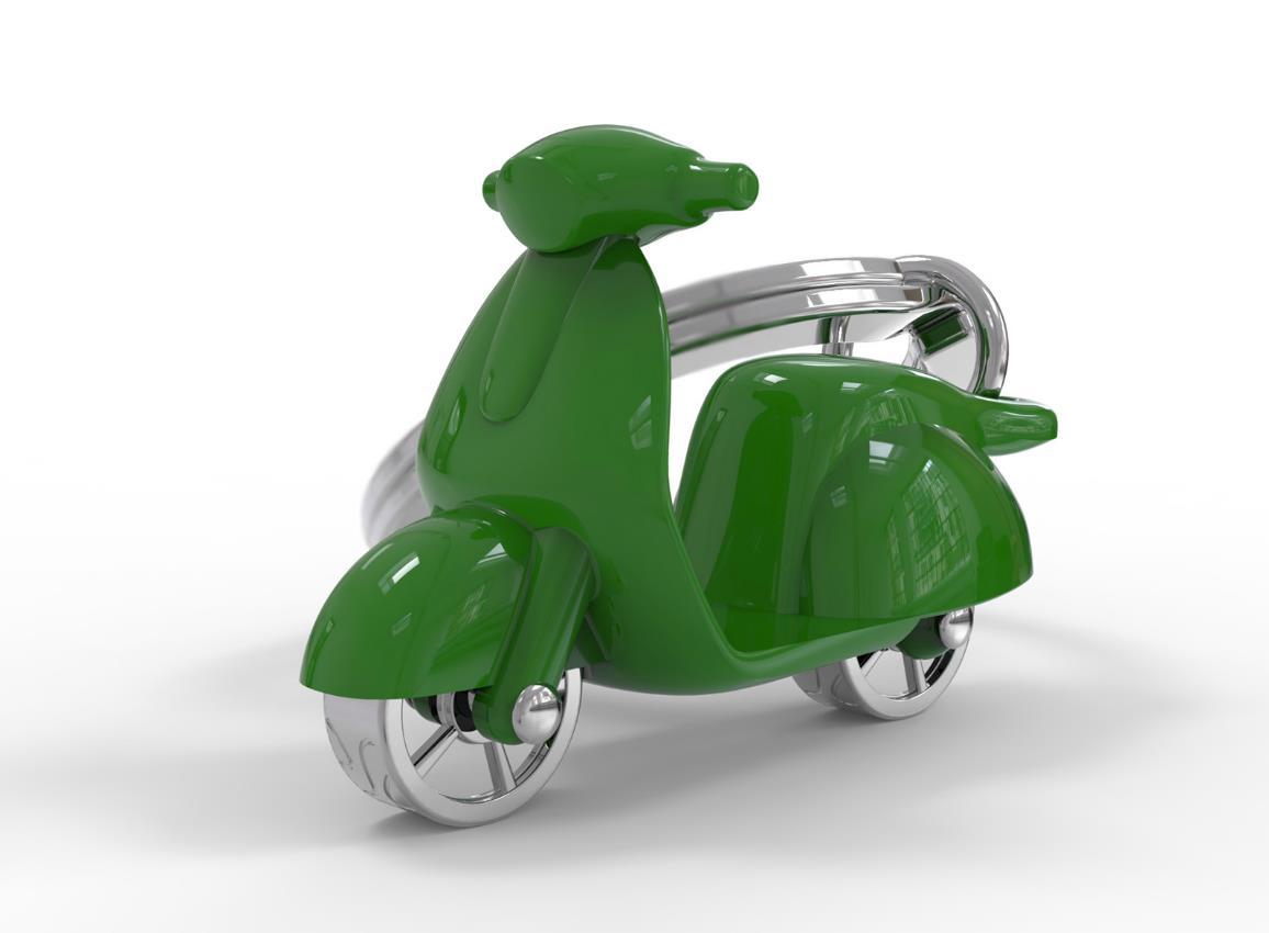 keyring scooter red white green mint pink cream silver black metalmorphose mtm999 13