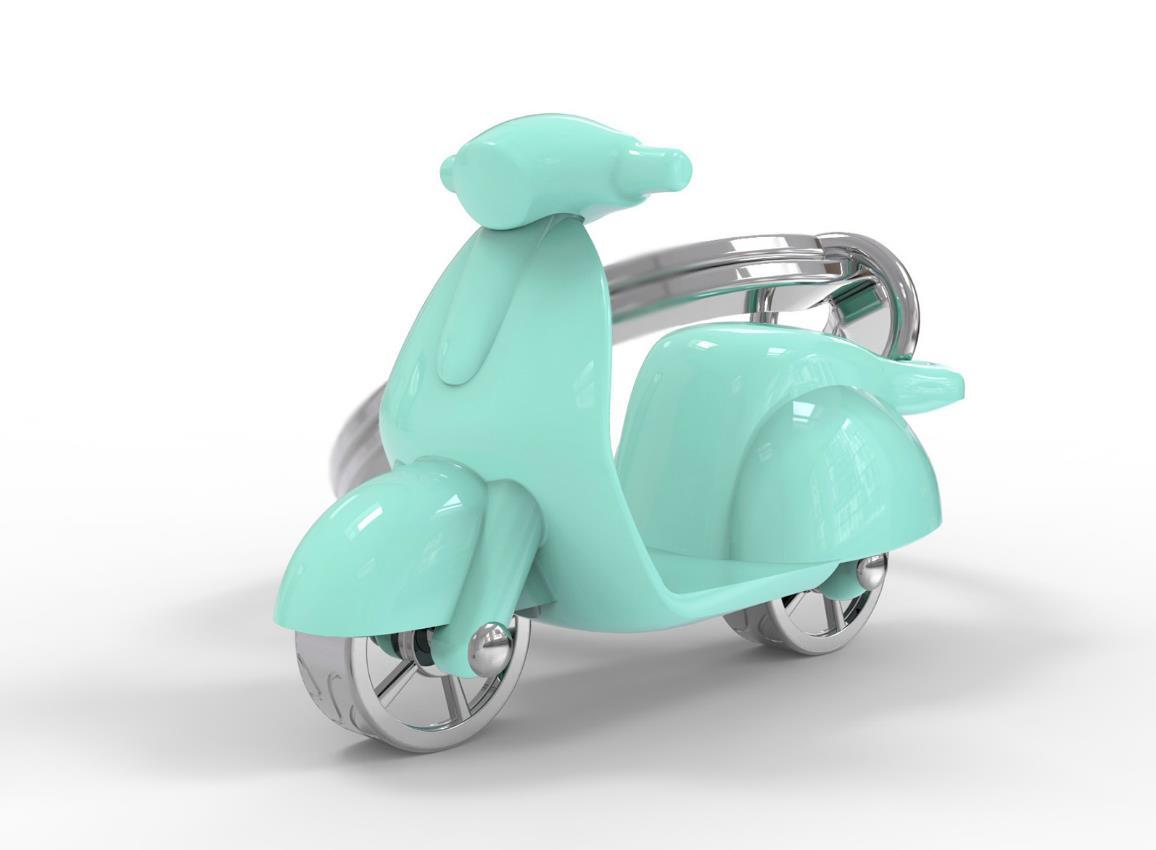 keyring scooter red white green mint pink cream silver black metalmorphose mtm999 14
