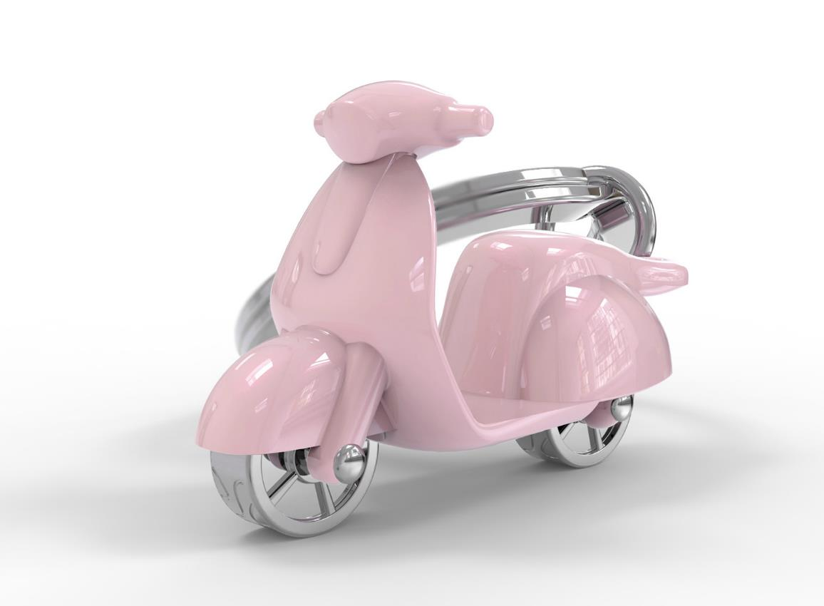 keyring scooter red white green mint pink cream silver black metalmorphose mtm999 15