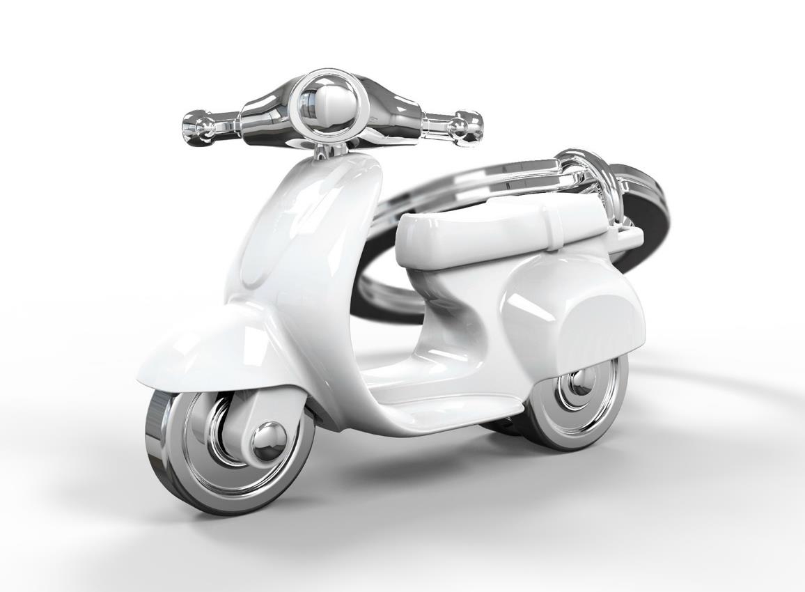 keyring scooter silver red black white metalmorphose mtm933 10