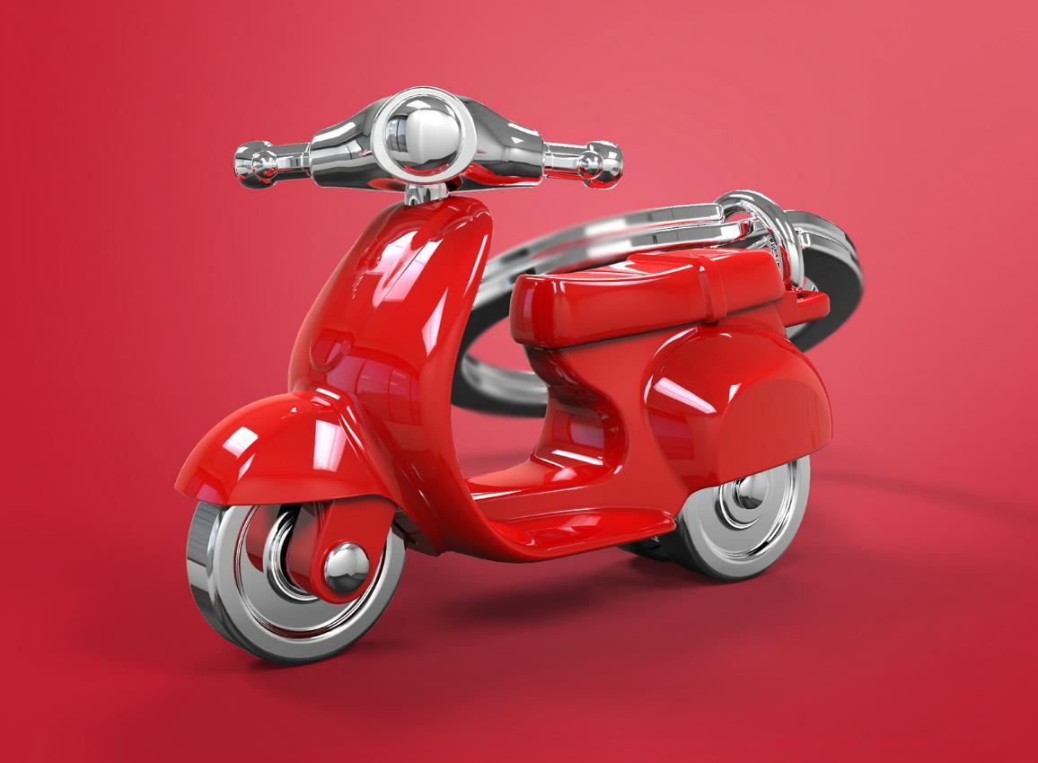 keyring scooter silver red black white metalmorphose mtm933 11