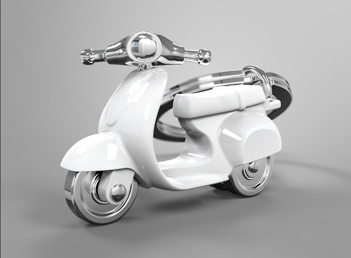 keyring scooter silver red black white metalmorphose mtm933 13