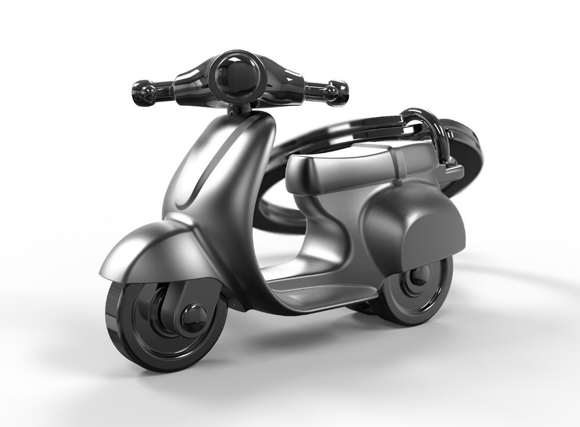 keyring scooter silver red black white metalmorphose mtm933 14