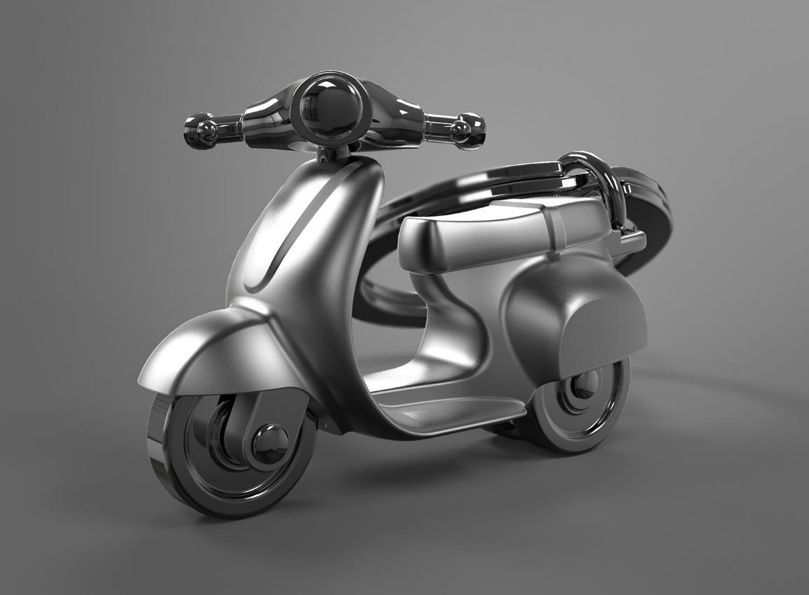 keyring scooter silver red black white metalmorphose mtm933 15