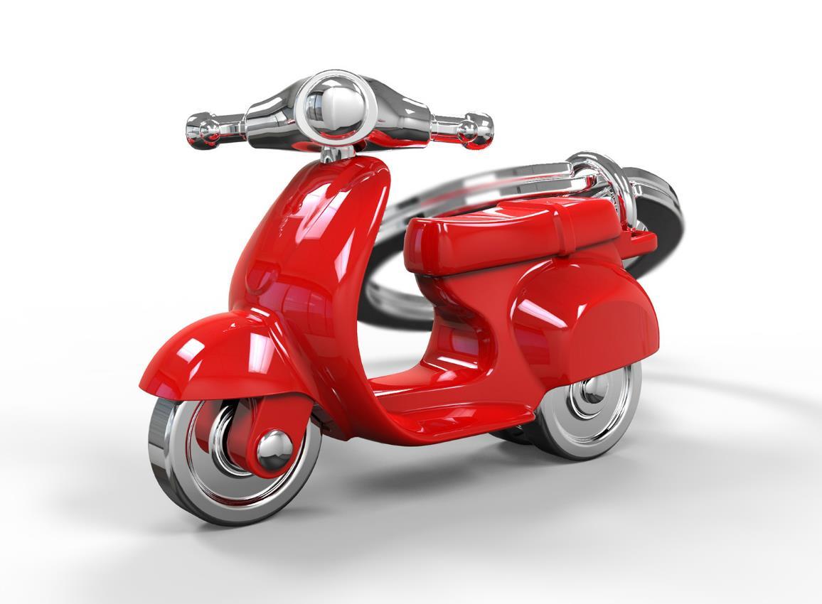 keyring scooter silver red black white metalmorphose mtm933 8